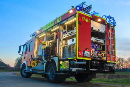 Begrenzungsleuchte an Feuerwehrfahrzeug